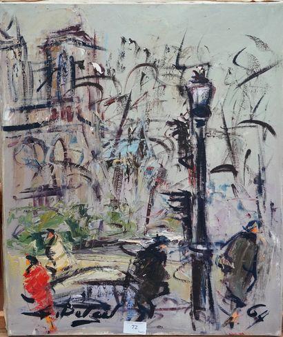 GEORGES BERGER (1908-1976)  Passants devant...