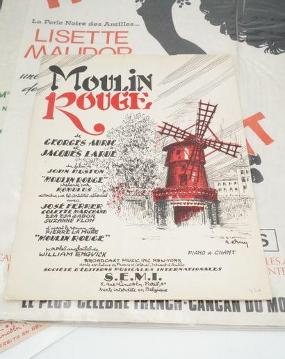 Moulin Rouge - folies bergère - the billionaire  - 歌舞剧,红磨坊舞会。海报。Gruau,I.D.L.印刷。...