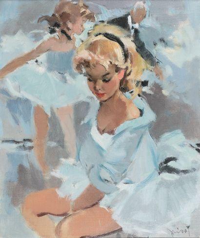 PIERRE GRISOT (1911-1991)  Paris, ballerines,...