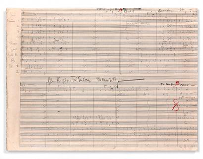 让-康斯坦丁 (1923-1997)  亲笔签名的手稿乐谱  的歌曲