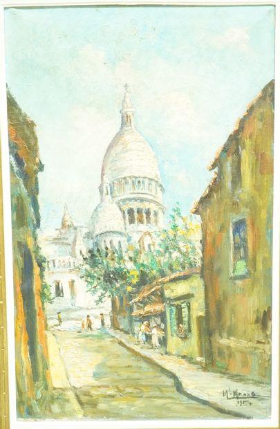 MICHELINE MASSE (1932-2017)  Montmartre,...