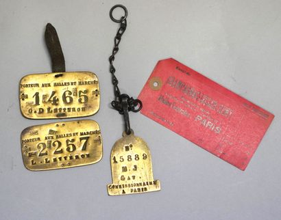 MEETING OF BADGES OF TWO PORTERS AND A COMMISSIONAIRE...