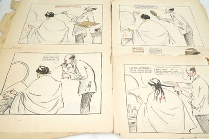 SEM (1863-1934)  Elegant Life  Meeting of eight lithographs of portraits of Parisians....