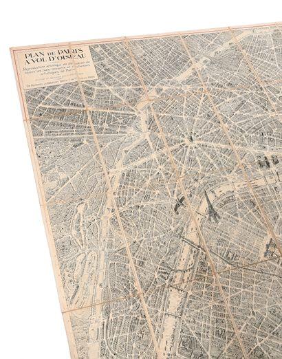 GEORGES PELTIER. Plan de Paris à vol d'oiseau,...