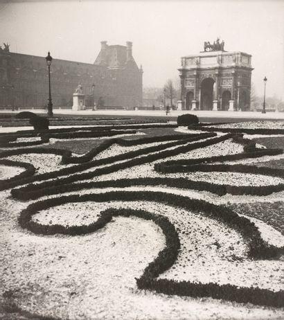 菲利贝尔特-德-弗劳格尔格(1885-1977)  杜伊勒里花园,凯旋门和卡鲁塞尔,约1940年...