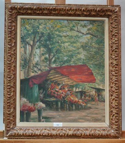 CHARLES VASNIER (1873-1961)  Paris, marché...