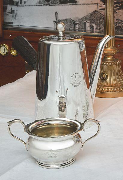 姬斯多福(CHRISTOFLE)  罕见的拉曼车咖啡壶,来自于Compagnie...