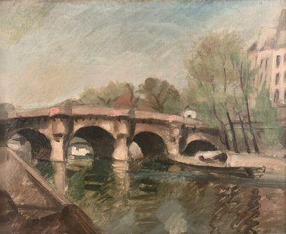 ÉCOLE FRANÇAISE, c. 1940  Paris, le pont...