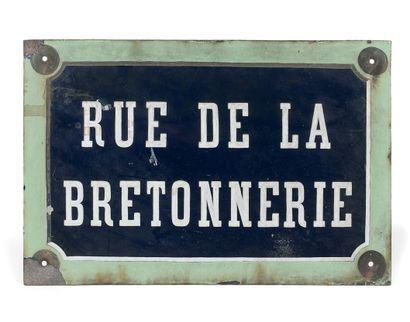 NAMEPLATE OF THE RUE DE LA BRETONNERIE, PARIS...