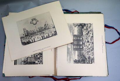 加布里埃尔-亨利奥特。我们的老街区,二十张过去的照片。Les Bibliophiles du Faubourg,巴黎,1930年。投资组合。  4开本,33 x...