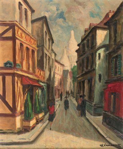 CHARLES VANISCOTTE (XXe SIÈCLE)  Rue Saint-Rustique,...