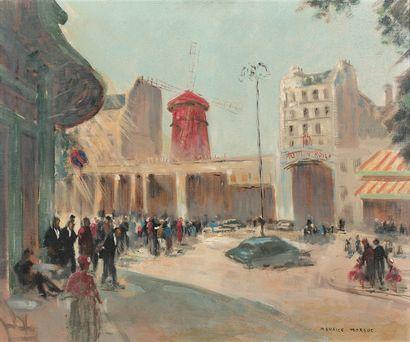 MAURICE MORGUE (XXe SIÈCLE)  Paris, place...