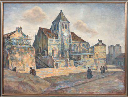 ERNEST LABORDE (1870 -?)  Paris, l'église...