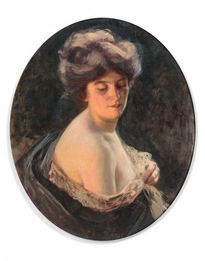 HENRIETTE SIRET (XIXe-XXe SIÈCLES)  Portrait...