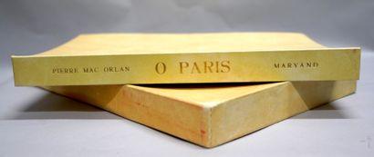 PIERRE MAC ORLAN (1882-1970). Ô Paris. Paris,...