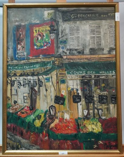 ÉCOLE FRANÇAISE, c. 1960  Paris, le Cours...
