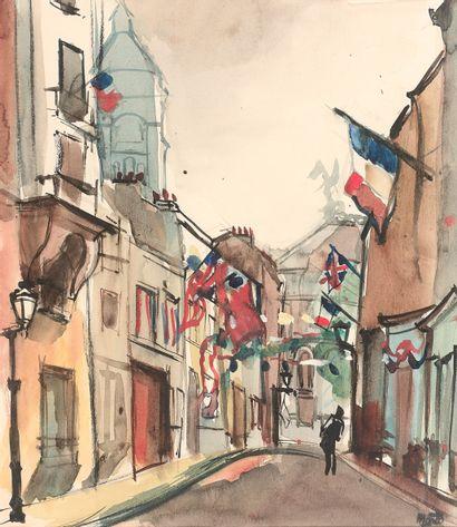 RENÉ EMMANUEL MARCA (1893-1962)  Paris, rue...