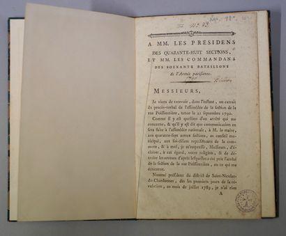 BAILLY, L. SAINT-MARTIN. À MM. les présidens des quarante-huit sections et MM. les...