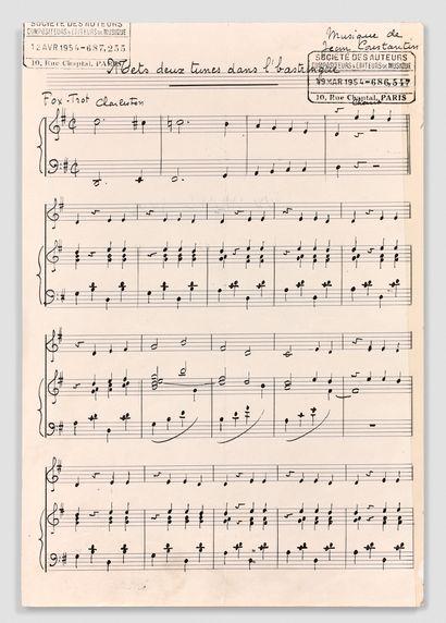 让-康斯坦丁 (1923-1997)  原始手写乐谱  的歌曲