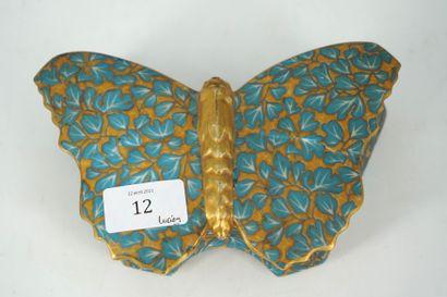 PERLAM boîte en porcelaine en forme de papillon...