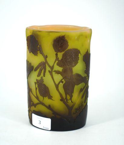 Etablissements GALLE, vase de forme polylobée...