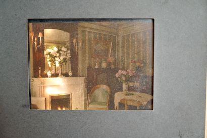 Quatre photographies sur verre A. LUMIERE...