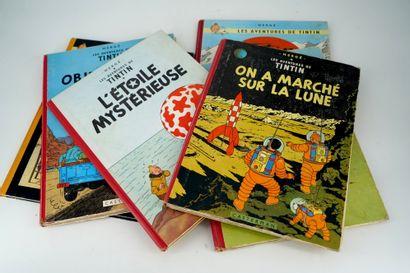 Six albums de Tintin : Tintin en Amérique...