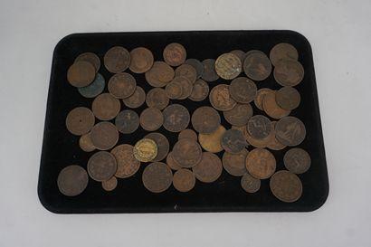 Lot de pièces de monnaies anciennes dont...