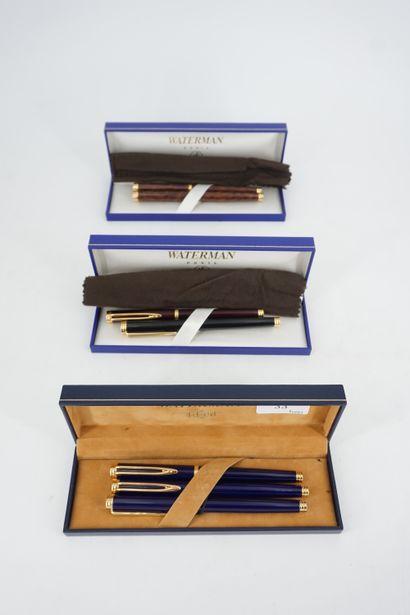 WATERMAN, Deux stylos bille et un stylo plume...