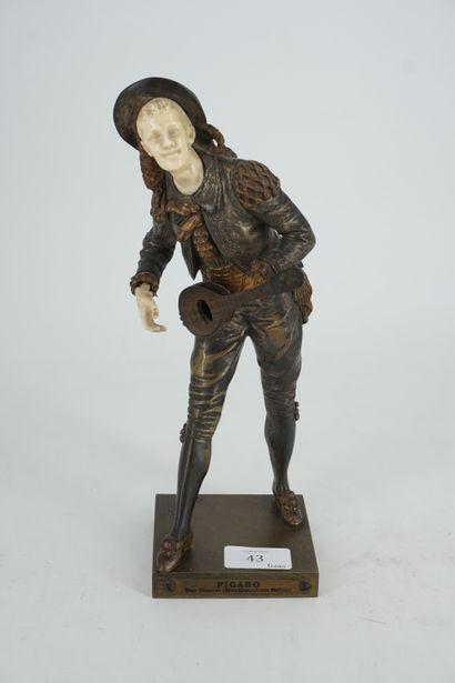 * BOURET, Figaro, sculpture en bronze et...