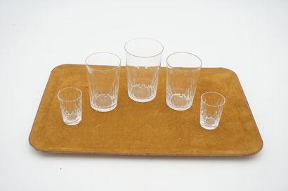 BACCARAT Partie de service de verres en cristal...