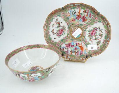 Chine, CANTON, XXe siècle, bol en porcelaine...