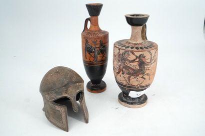 Deux vases dans le goût des antiquités grecques....