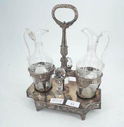 Vinaigrier en argent, poinçon coq (1798-1809)...