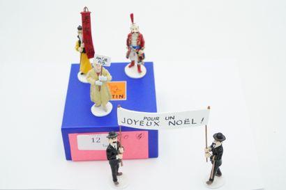 Réunion de quatre figurines en plomb – édition...
