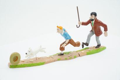 Tintin – édition Moulinsart – Haddock poursuite...