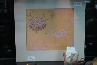 Projet de décor floral au crayon et à la...