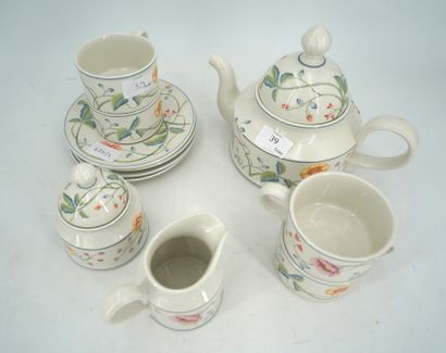 Partie de service à thé en porcelaine, Villeroy...