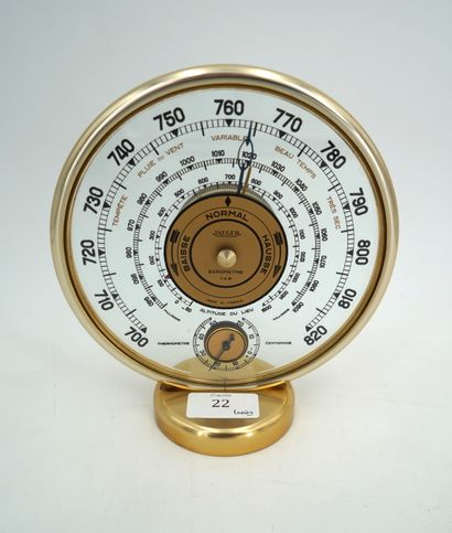 JAEGER : Baromètre-thermomètre, modèle 7AB,...