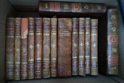 Lot de livres anciens, dont XVIIIe siècle,...