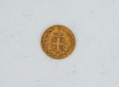 Une pièce de 20 lire or, UMBERTO I RE D'ITALIA,...