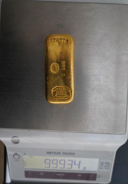 Lingot or 995 millièmes, numéro 506776,...