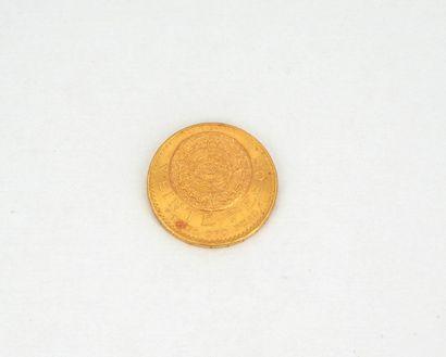 Une pièce de veinte pesos or, Mexique, 1959....