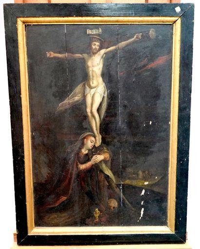 ÉCOLE ITALIENNE DU XVIIe SIÈCLE - Crucifixion...