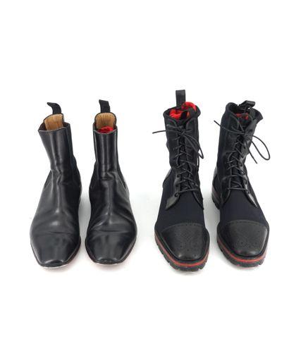 Christian Louboutin Un lot composé de 5 paires de chaussures homme - Taille comprise...