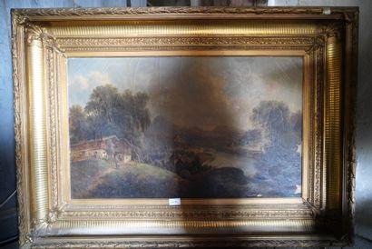 Ecole française vers 1840, paysage d'Italie...