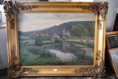 A. DUSSAULT, paysages, 1913, deux huiles...