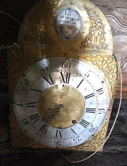 Importante horloge de parquet en bois naturel,...