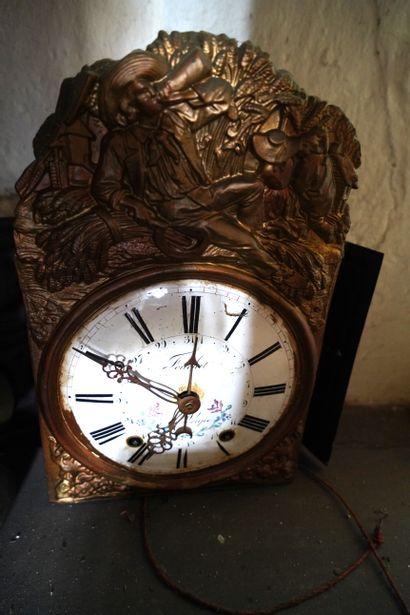 Horloge de parquet, la gaine rectangulaire...