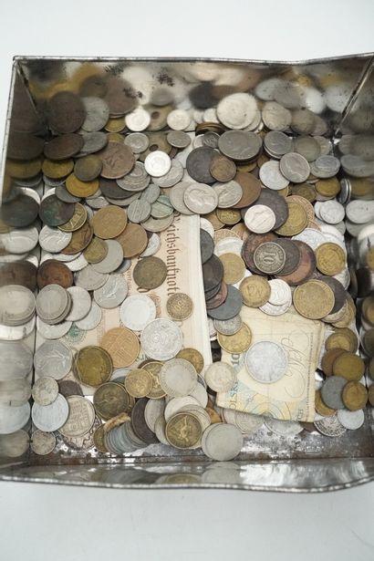 Lot de pièces et monnaies diverses, Europe...